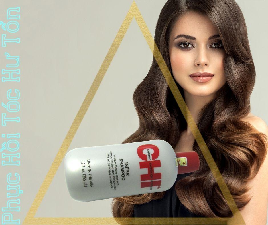 Dầu Gội CHI Infra Shampoo giúp tóc khỏe hơn và mềm mượt hơn