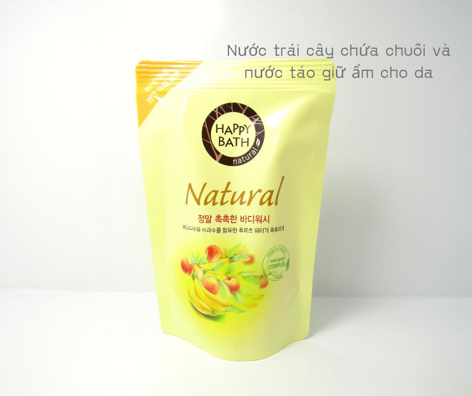 Bộ Sữa Tắm Trắng Da Happy Bath Natural Real Moisture 750g