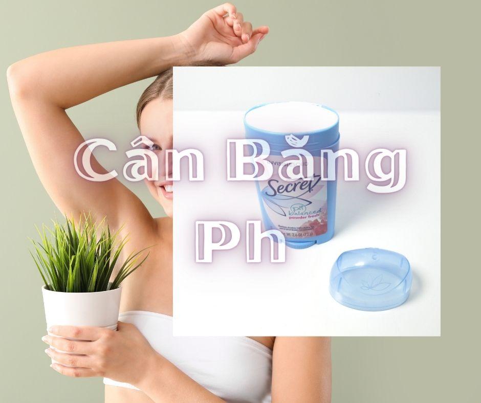 Lăn Khử Mùi Secret Ph Balanced Powder Fresh dạng sáp không gây bết dính