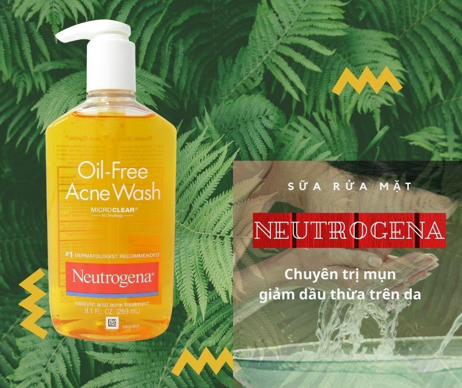 Neutrogena Trị Mụn Oil Free Acne Wash