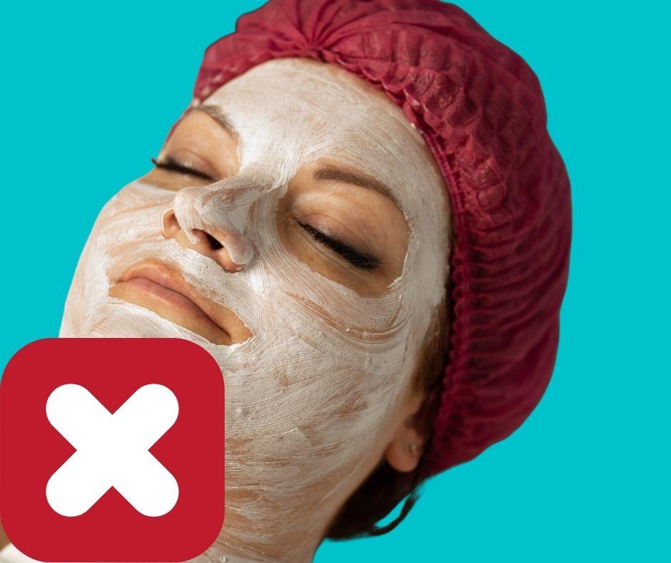Cách đắp mặt nạ sai lầm của phụ nữ dẫn đến lão hóa da , đắp mặt nạ không theo hướng dẫn