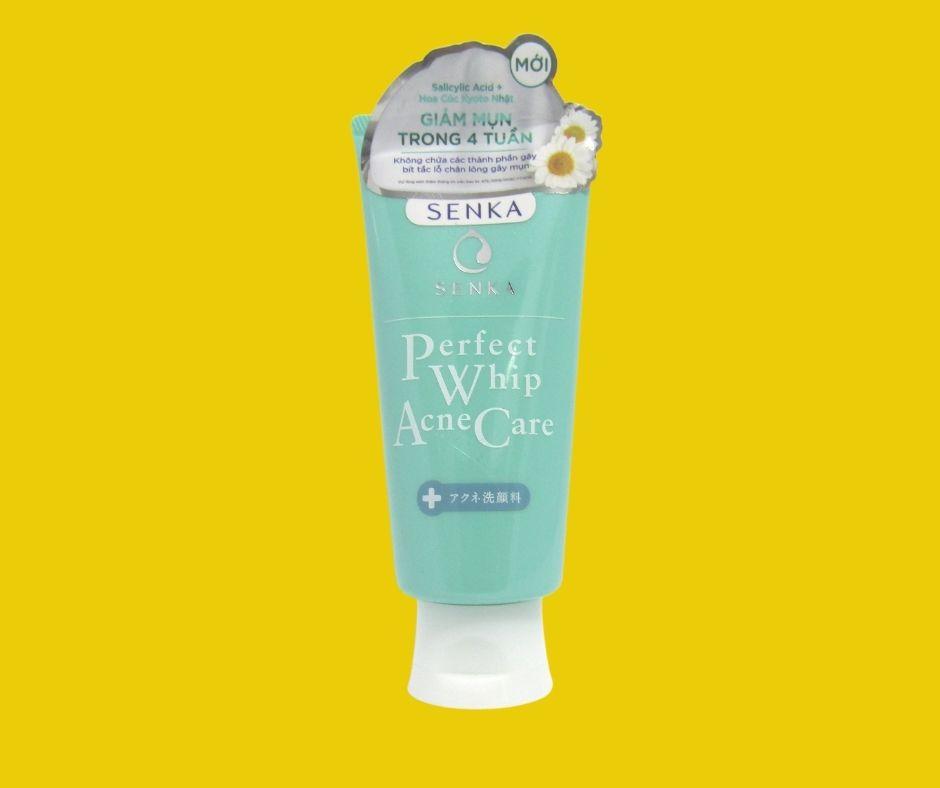 Độ pH của sữa rửa mặt Senka Perfect Acne Care