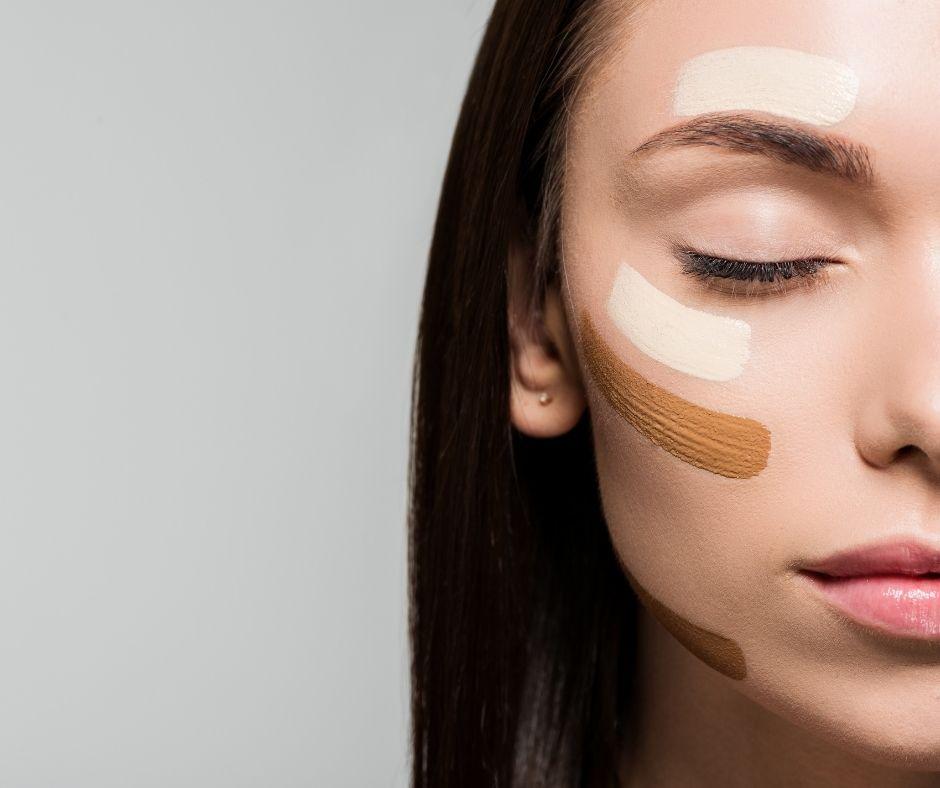 Cách áp dụng màu kem che khuyết điểm lên từng vùng da mặt