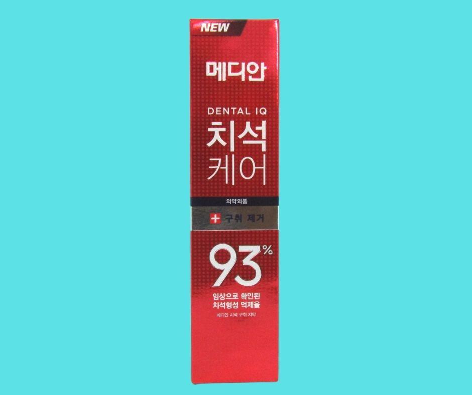 kem đánh răng median dental IQ 93% Hàn Quốc màu đỏ