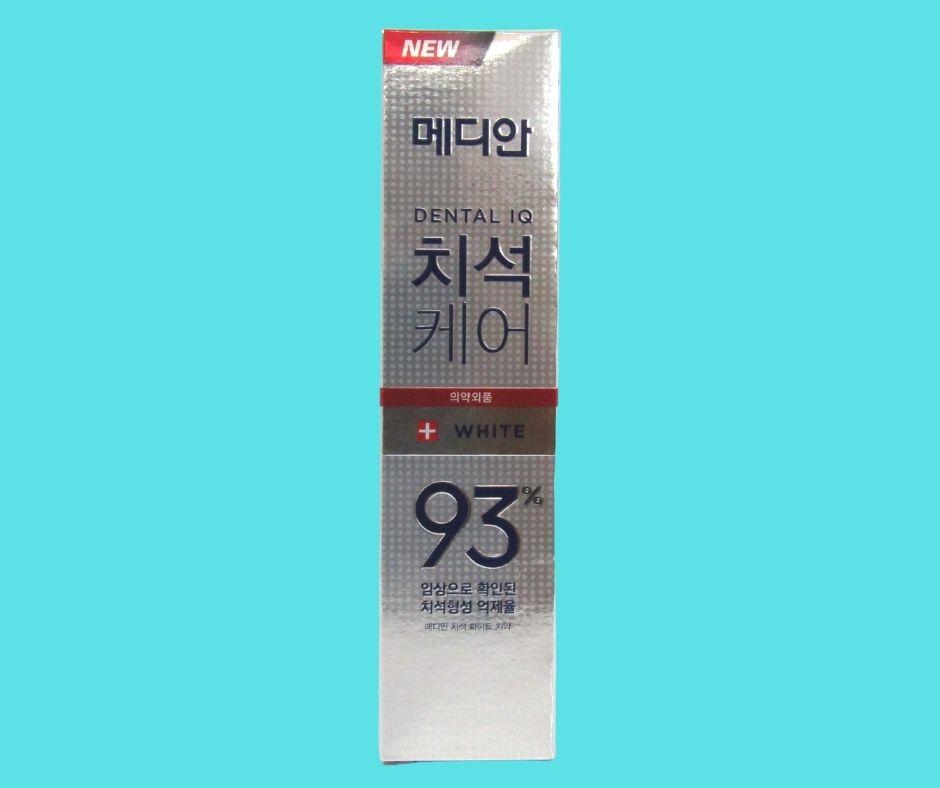 kem đánh răng median dental IQ 93% Hàn Quốc màu trắng