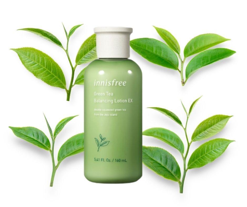 Nước hoa hồng Innisfree Green Tea Balancing Skin Ex