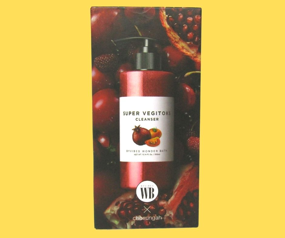 Sữa Rửa Mặt Rau Củ Super Vegitoks 300mL màu đỏ