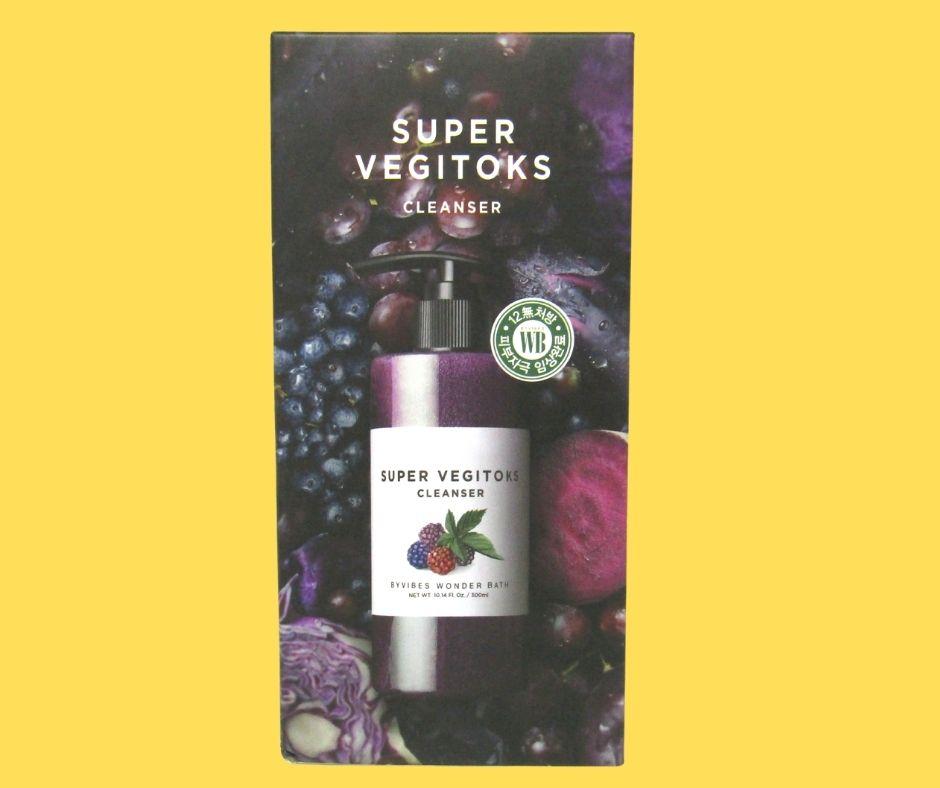 Sữa Rửa Mặt Rau Củ Super Vegitoks 300mL màu tím