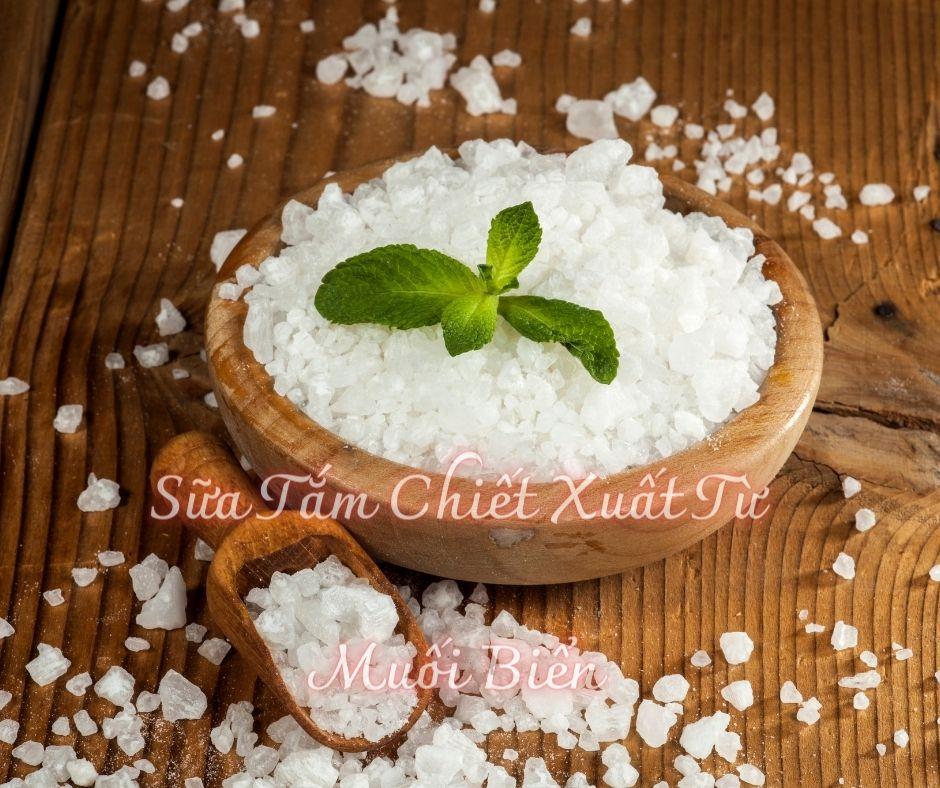 Sữa Tắm Chiết Xuất Từ Muối Biển làm trắng da tự nhiên