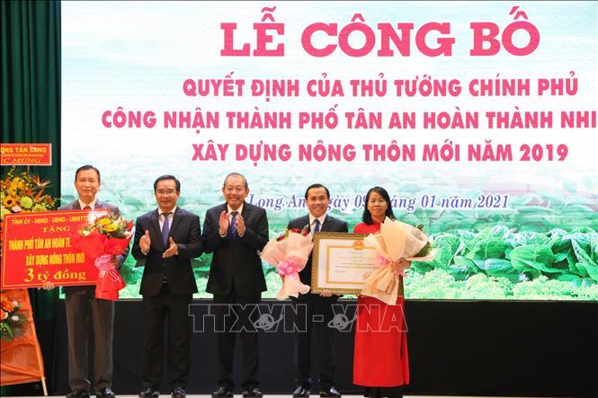 Thành Phố Tân An Công nhận hoàn thành xây dựng nông thôn mới