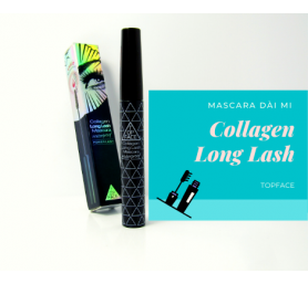 Mascara Không Trôi Top Face Collagen Long Lash Mascara Waterproof
