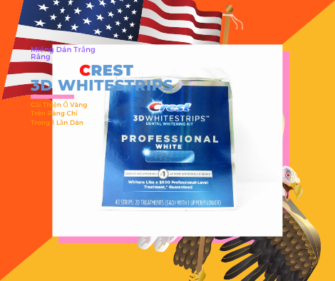 Miếng Dán Trắng Răng Crest 3D Whites Trips Professinonal White