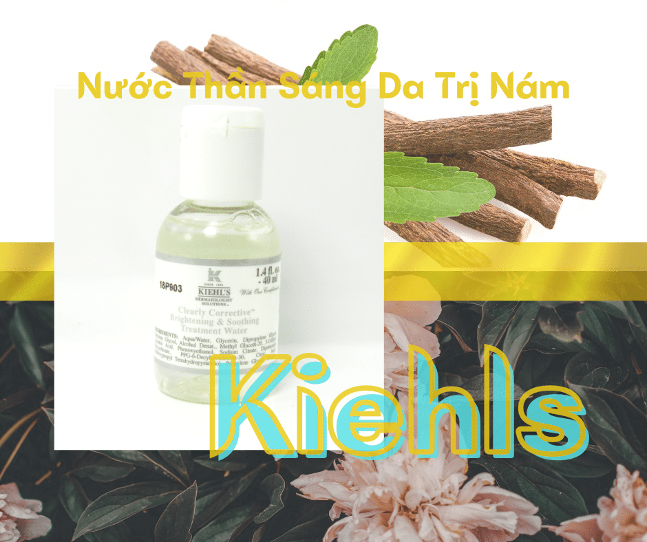 Nước Thần Sáng Da Trị Nám Kiehls Clearly Corrective Brightenning & Soomthing Treatment Water 40ml