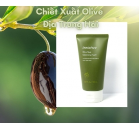 Sữa Rửa Mặt Innisfree Olive Real Cleansing Foam 150mL